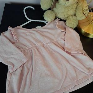 H&M 4-6 Months Pink Long Sleeve Dress